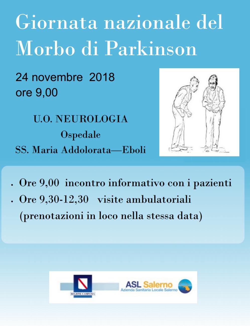 Giornata nazionale del.morbo di Parkinson Eboli