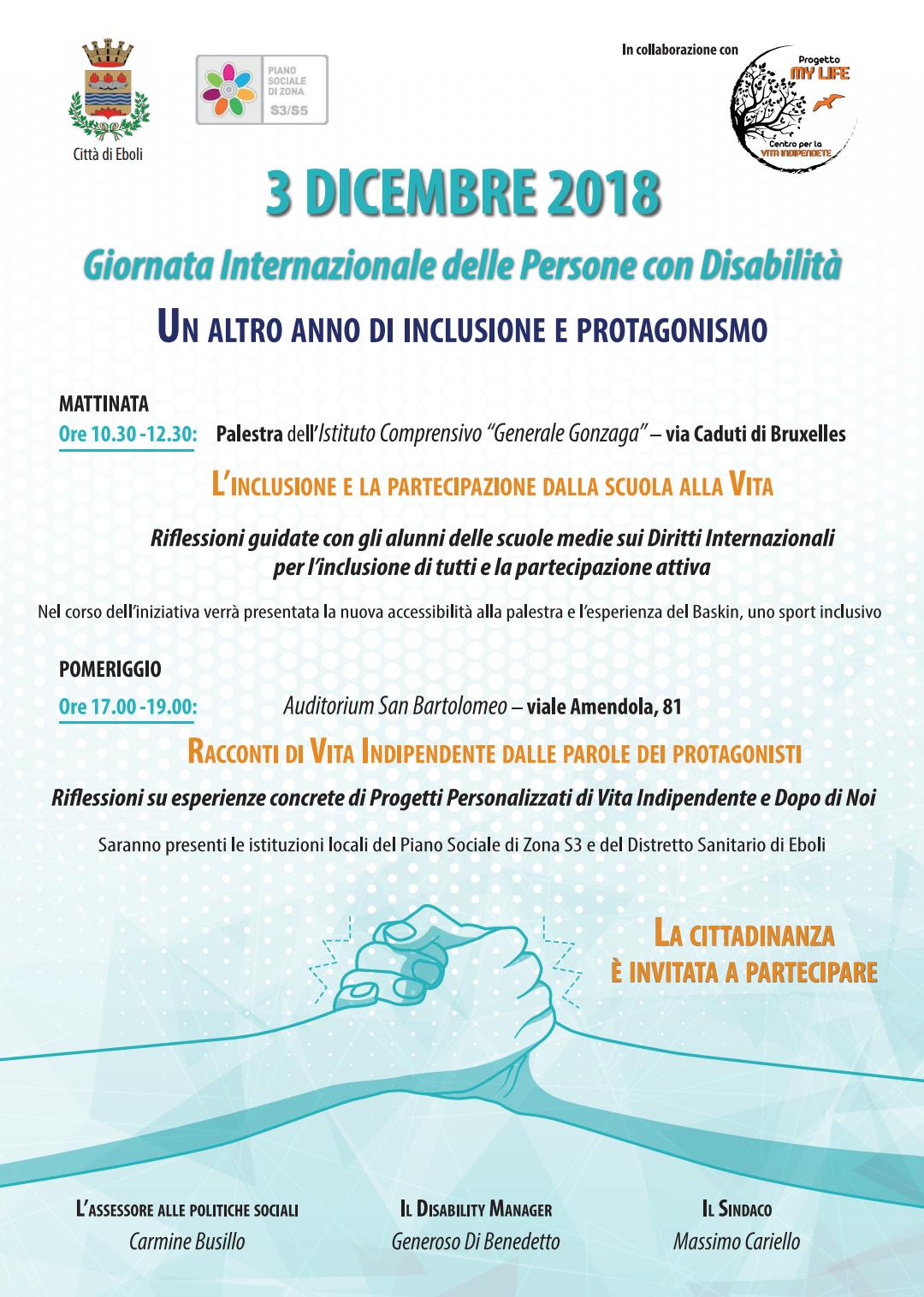 Giornata Internazionale delle persone con disabilità-Eboli