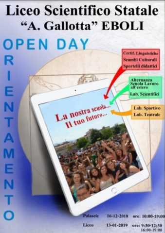 Open Day Liceo Scientifico Eboli