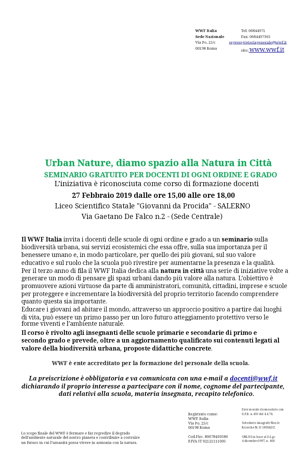 Programma Urban Natura Salerno 1