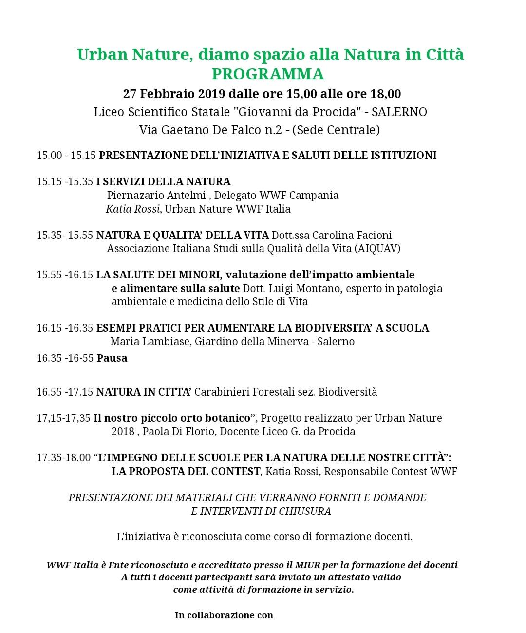 Programma Urban Natura Salerno 2