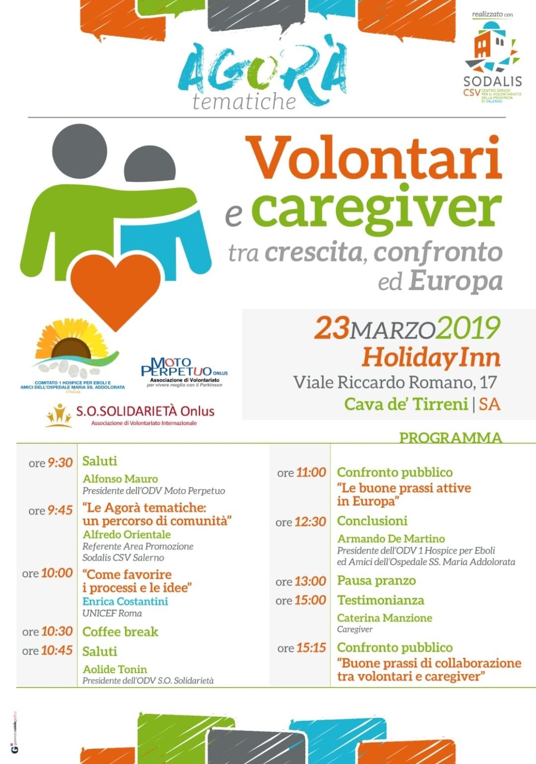 Cava dei Tirreni-Volontari e Caregiver a confronto