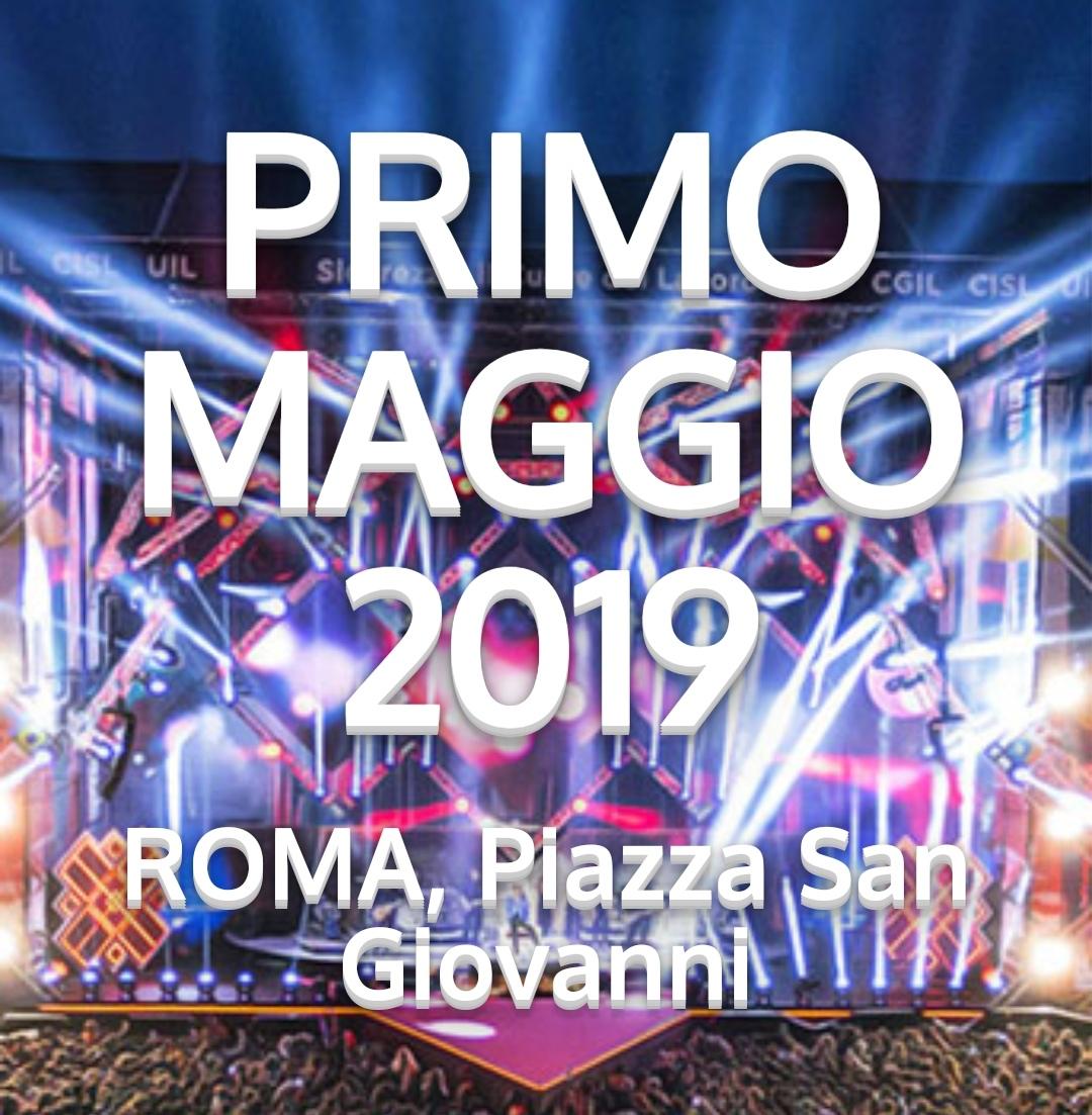 Concerto 1 maggio 2019 a Roma