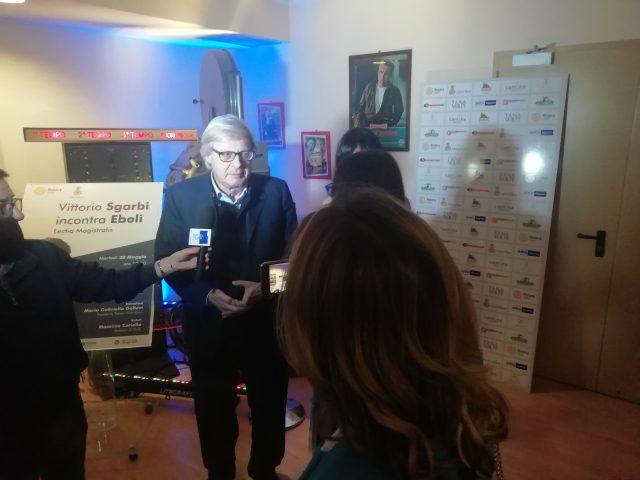 Vittorio Sgarbi incontra Eboli