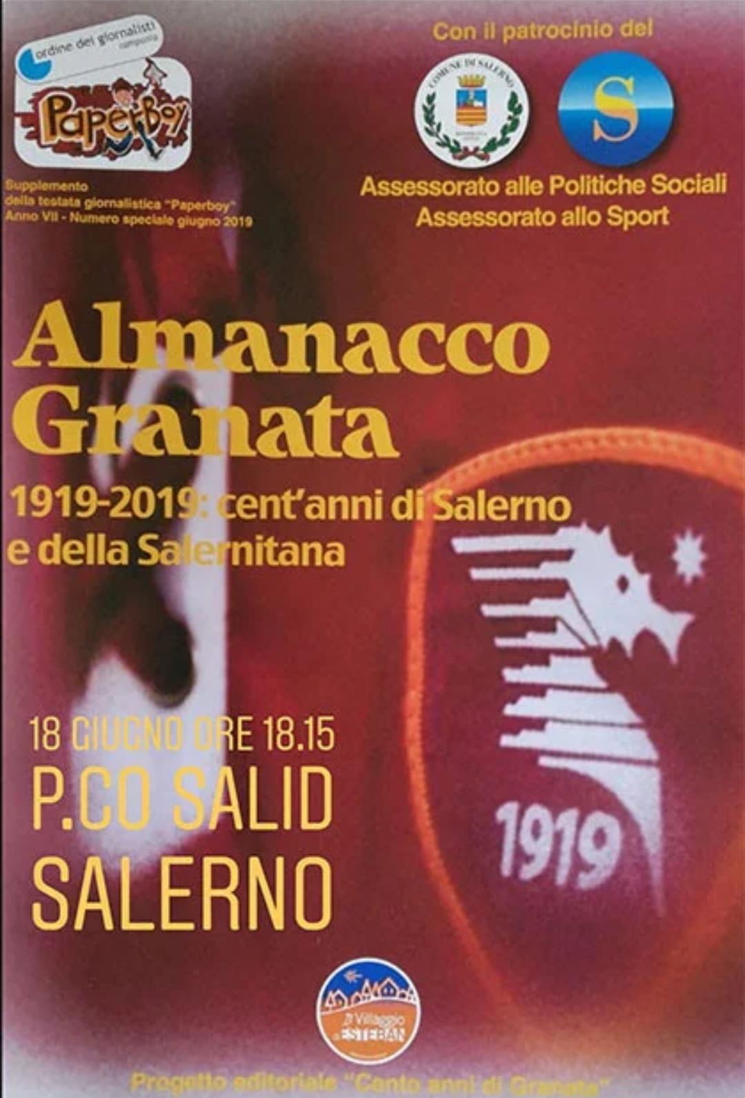 """""""Almanacco Granata"""", 100 anni di storia"""