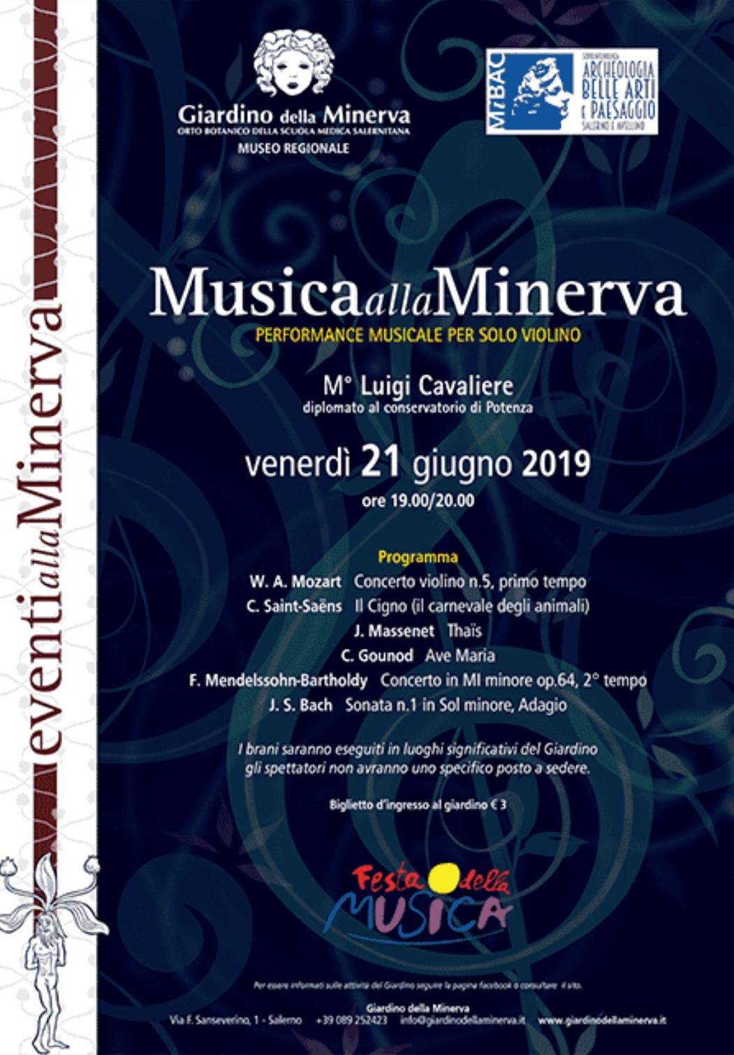 Luigi Cavaliere-Giardino della Minerva-Festa della Musica 2019
