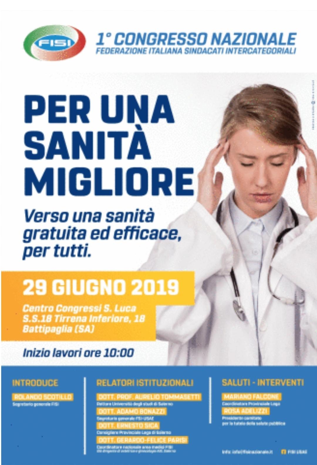 Battipaglia - 1 Congresso nazionale FISI Sanità
