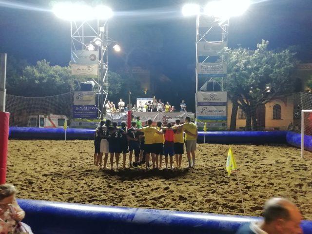 Beach Soccer-Incontro Calcio a 5-Giornalisti-Politici-retro