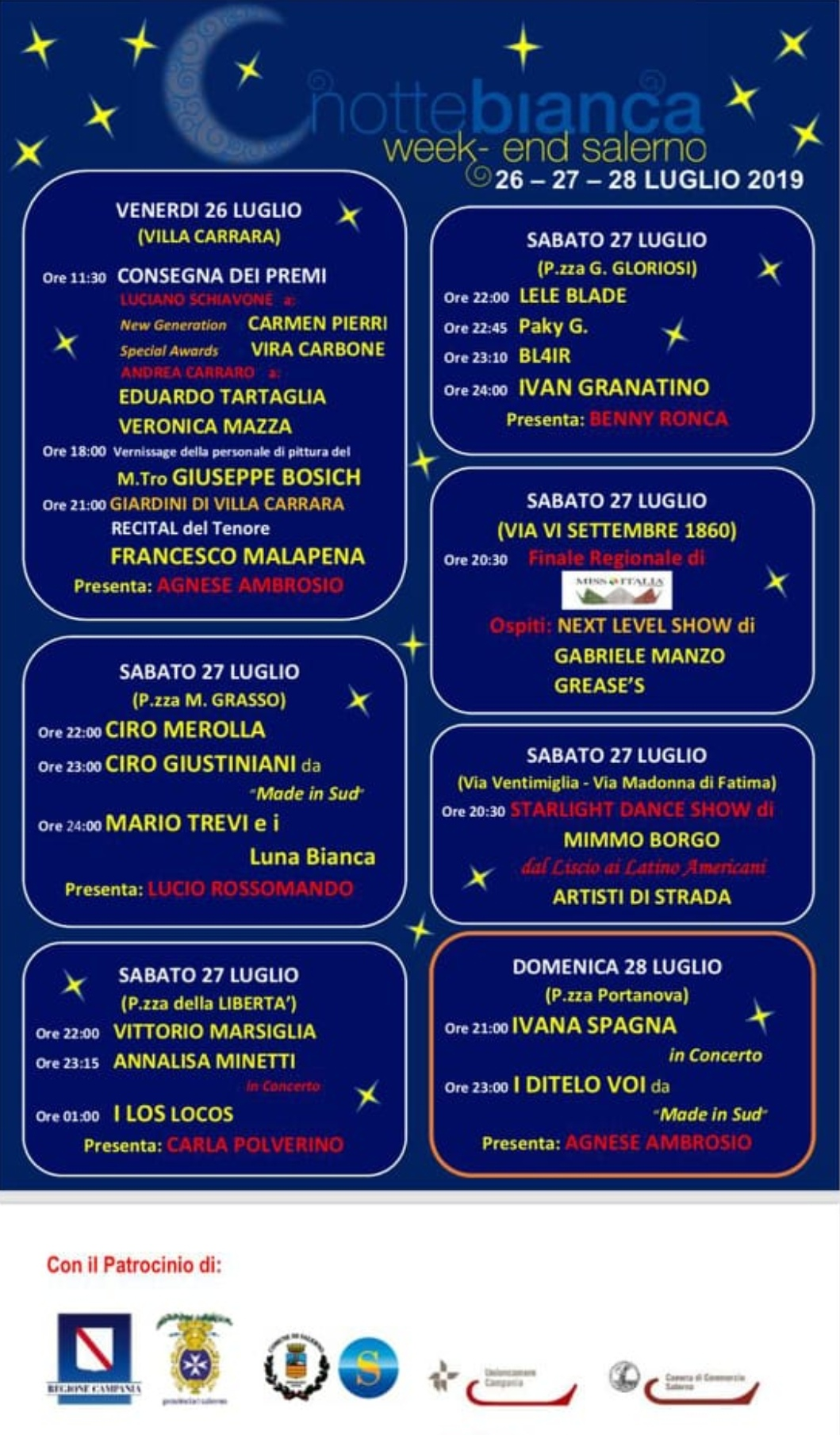 Notte bianca 2019 Salerno