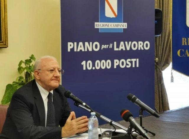 Vincenzo De Luca Piano Lavoro