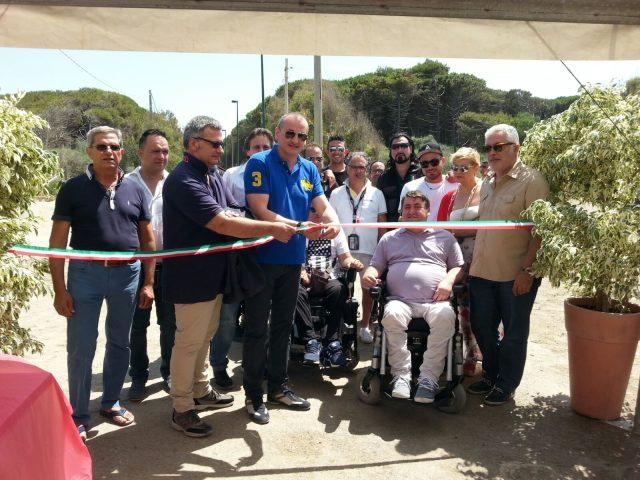 Inaugurazione Spiaggia disabili-Eboli:Lenza-Cariello-Di Benedetto