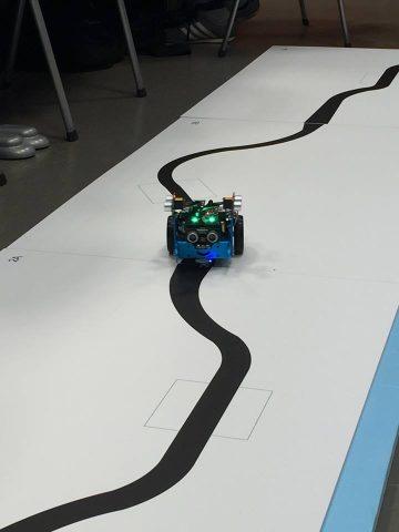 Il robot durante una simulazione