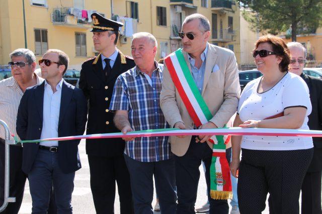 Inaugurazione Mercatino Rione della Pace-Merola-Polito-Cariello-Manzione