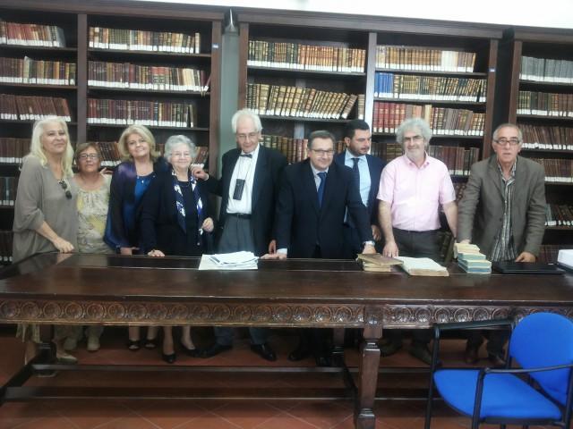 Intitolazione Sala Antica Biblioteca-Famiglia Merola-Consegna volumi