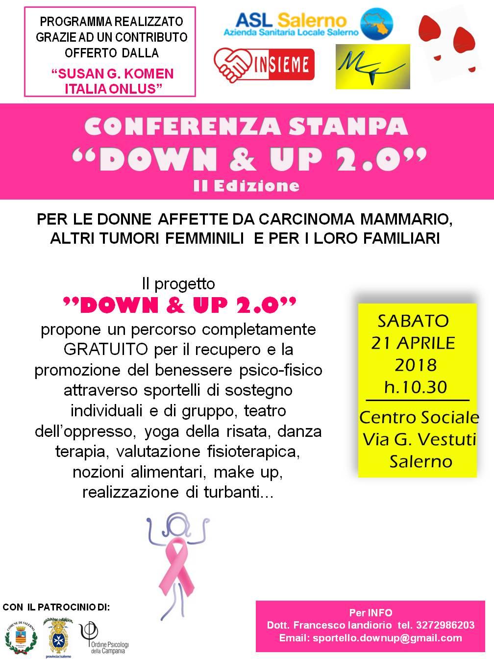 Invito -locandina progetto-DOWN & UP 2.0.-Salerno