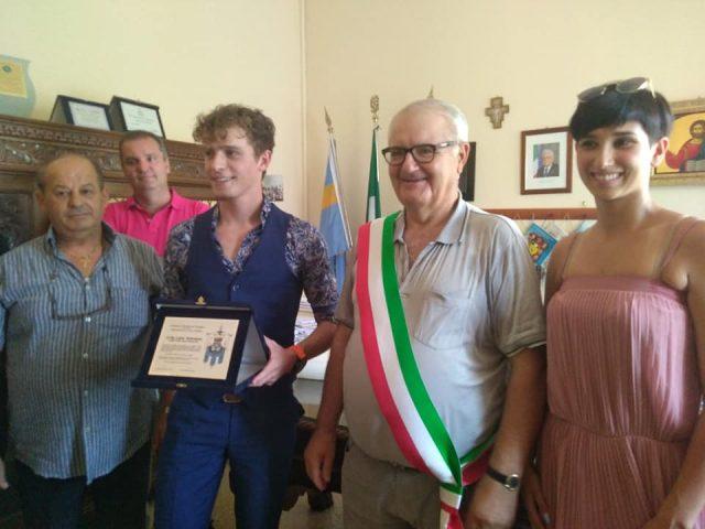Lukas Haitzmann con Michele Volzone e Simona Di Lascio