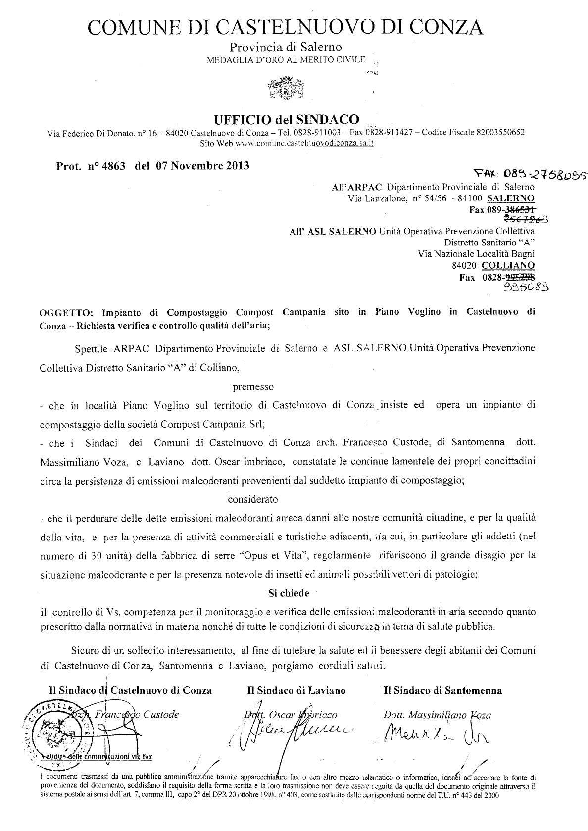 Lettera-Arpac-impianto-di-compostaggio-Castelnuovo-di-conza