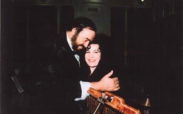 Luciano-Pavarotti-Antonella-Dagostino-