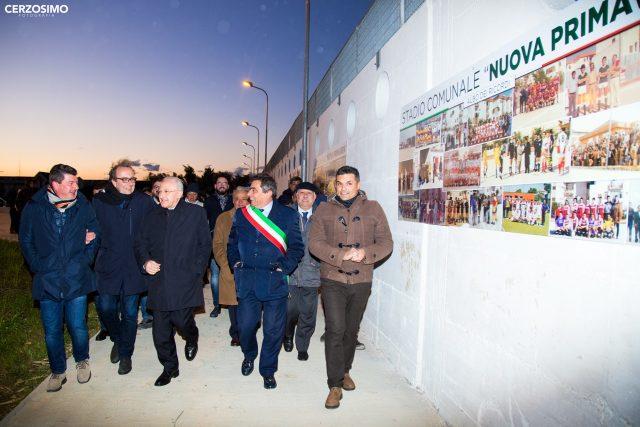 Inaugurazione Campo sportivo Bellizzi-mimmo.Volpe-Vincenzo De Luca-1