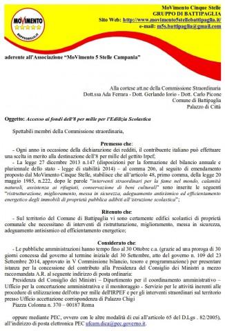 Manifesto 8 per Mille-M5S.