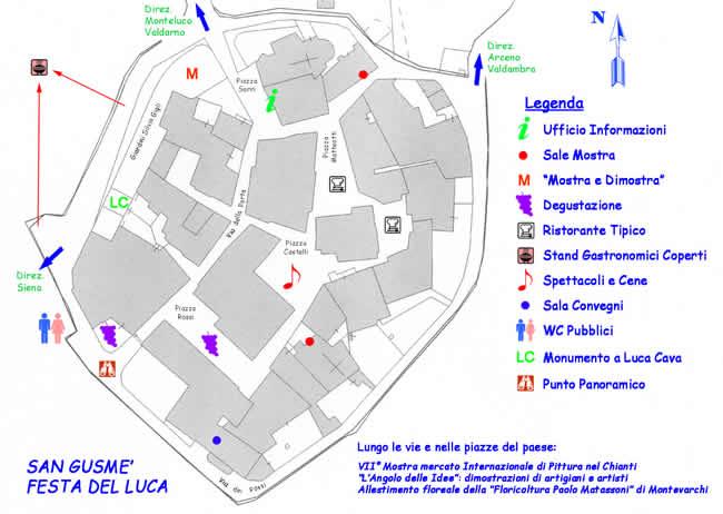 Mappa della Festa del Luca