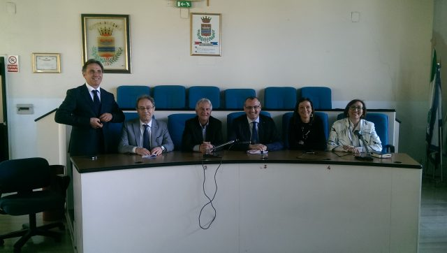 Mario Conte-Antonio Rizzo-Giovanni Giordano-Massimo Cariello-Titti Iorio-Angela Lamonica-Conferenza stampa Liceo.jpg