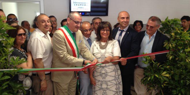 Massimo Cariello-Cinzia Romagnolo-inaugurazione nuova sede Agenzia delle Entrate