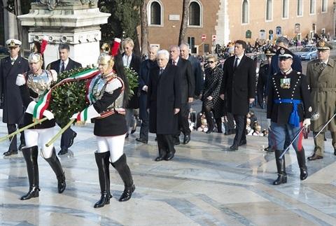 Mattarella-Renzi-71 Festa Liberazione