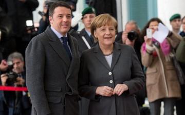 Matteo-Renzi-Angela-Merkel