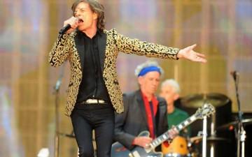 Mick Jagger con Keith Richards,