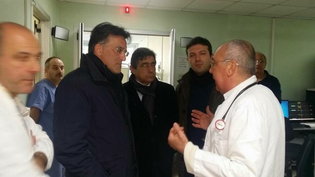 Nicola Landolfi-Mimmo Volpe-Davide Bruno-Visita PD Ospedale Battipaglia