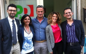Giuseppe Lanzara-Nunzia Fiore- Francesco FuscoGerarda Sica-Giovanni Ligurso--gruppo-consiliare-pd-pontecagnano