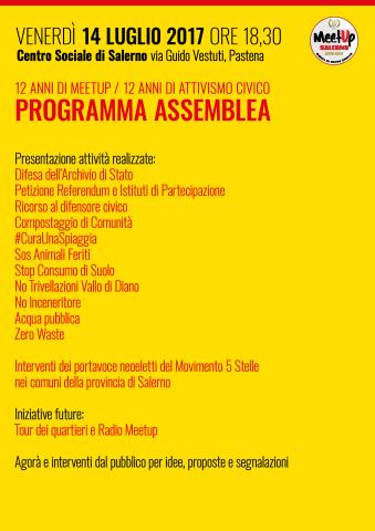 PROGRAMMA -Assemblea Meetup Salerno