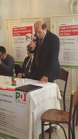 Pasquale Infante-Convegno PD-Eboli-Legge stabilità
