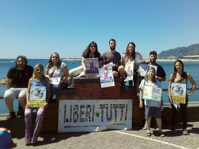 Presidio di sensibilizzazione contro pesca sportiva - Salerno, 18 giugno 2017