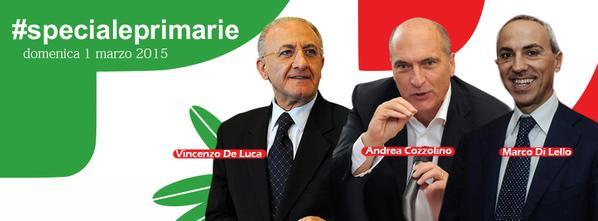 Primarie PD- De Luca-Cozzolino-Di Lello