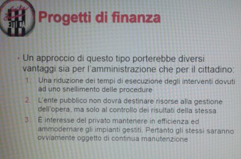 Progetti di Finanza 1