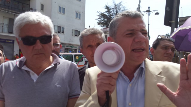 Protesta Ospedale-Melchionda-Calabrese