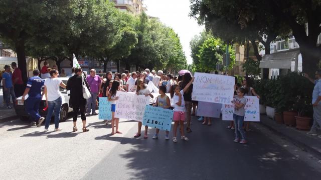 Protesta Ospedale-corteo mamme.