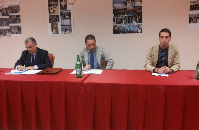 Roberto Napoli-Andrea Lilite-Fabiano Sole-Conferenza stampa-Techmania-1