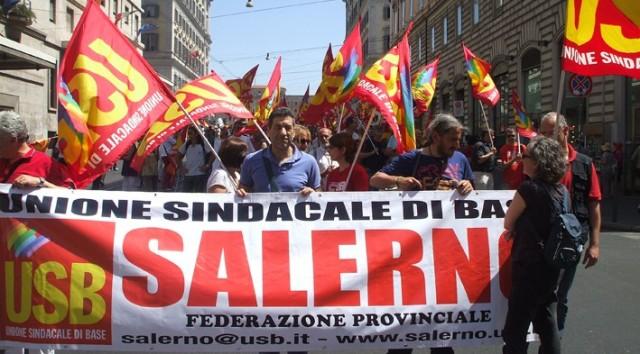 Salerno-sciopero-generale-22giugno-Roma