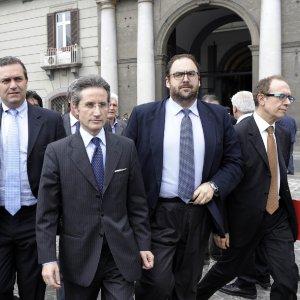 Salvo Nastasi con Stefano Caldoro e Luigi De Magistris