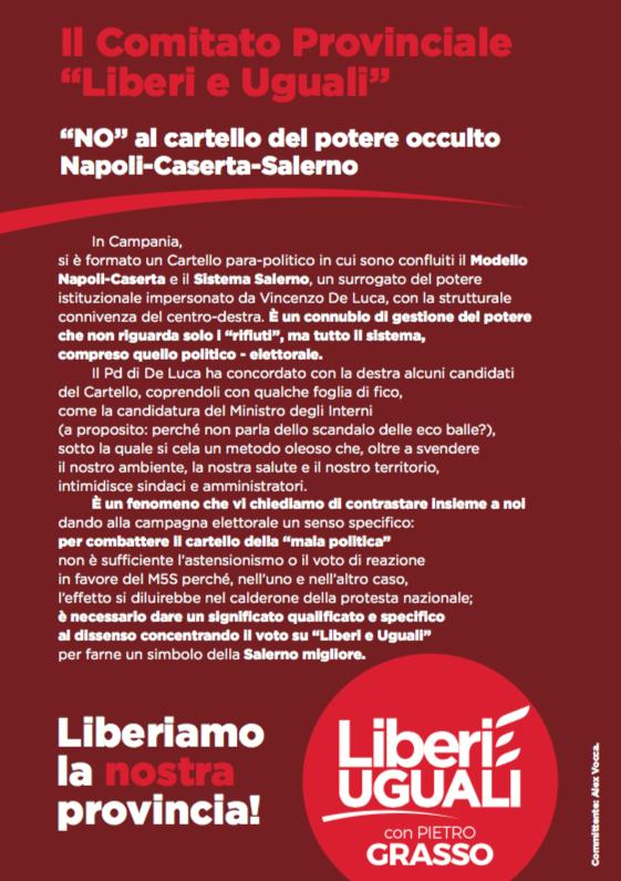 manifesto Liberi e Uguali