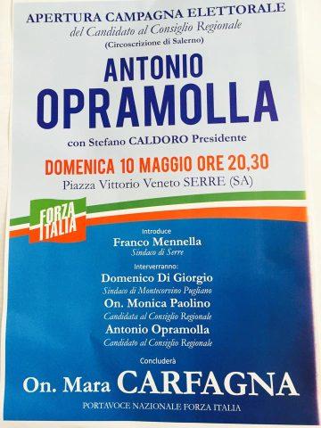 Serre-campagna elettorale-Forza Italia
