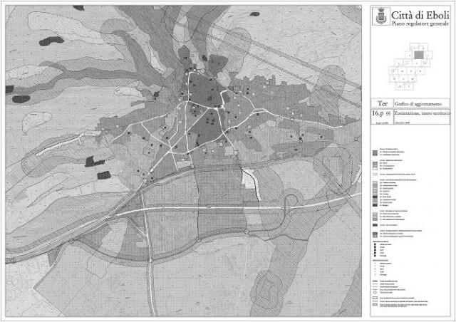 Tavola della zonizzazione del centro urbano (PRG 2003)