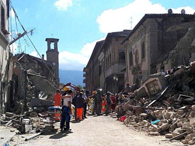 terremoto Amatrice (Rieti), 24 agosto 2016.
