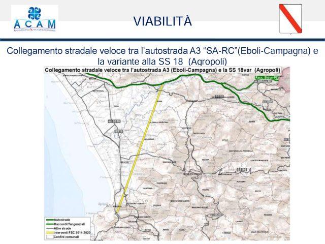 Tracciato-Bretella veloce-A3 Agropoli