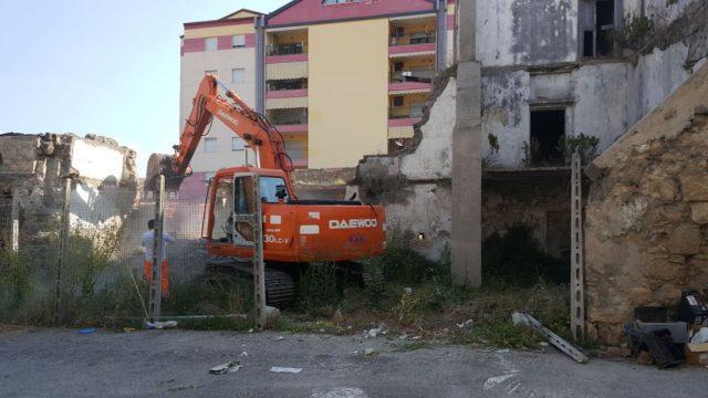 Rudere in demolizion Via Vanvitelli Battipaglia