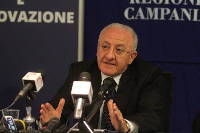 Vincenzo De Luca-Conferenza Stampa