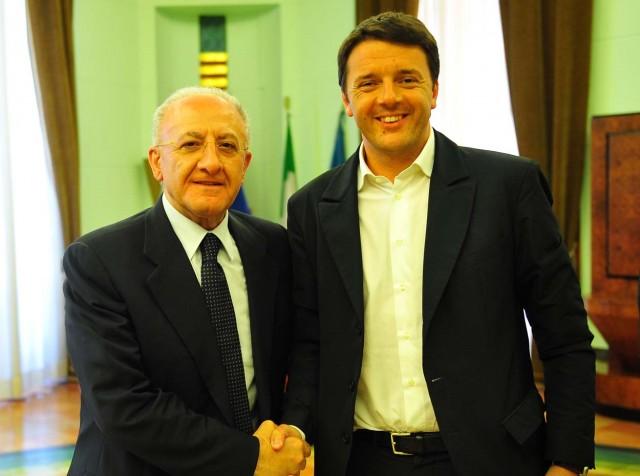 Vincenzo-De-Luca-Matteo-Renzi